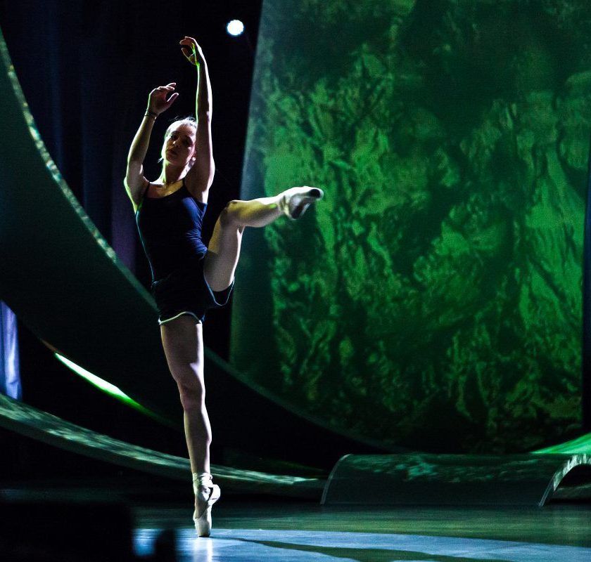 On stage: Viktoria Nowak (Photo: Elena Volotova/EBU)