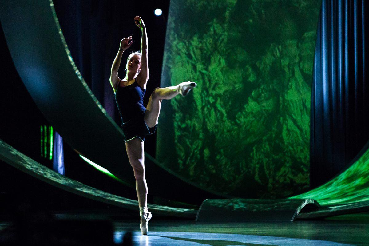 On stage: Viktoria Nowak (Photo: Elena Volotova/EBU)