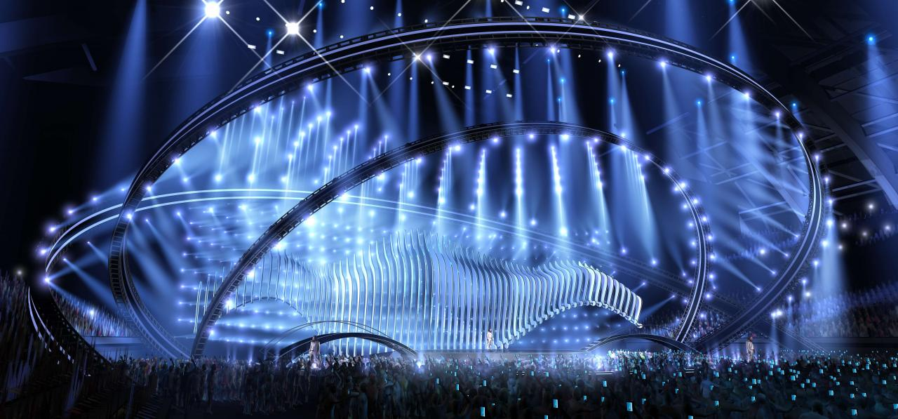 Eurovision 2018 stage. Source: EBU