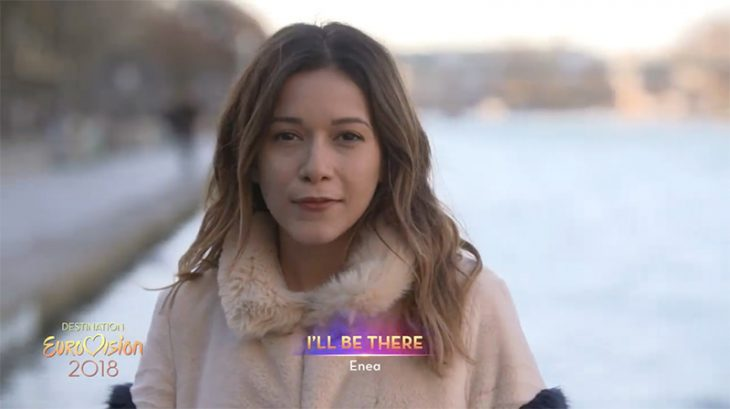 Énea will be one of the 18 participants in Destination Eurovision, France's national selection show for the Eurovision Song Contest 2018. Screenshot via France 2.