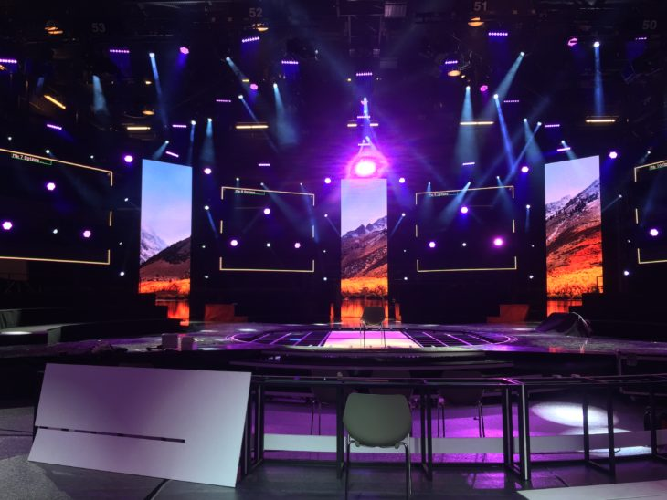 The stage design for Festival da Canção 2018. Photo courtesy RTP