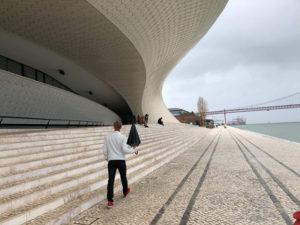 Ari Olafsson records his Eurovision postcard in Lisbon. Image source: escportugal.pt